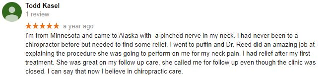 Puffin Chiropractic Patient Testimonial